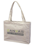 Canvas Shopperbag,natur,2 lange Henkel, Querformat,Qualität: ca. 280 gr.(Direktimport)